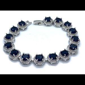 Cubic Zirconia Eternity Round Cut Bracelet